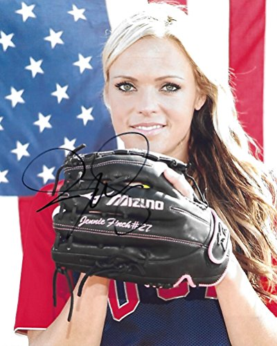 (Jennie Finch, Softball, USA National Softball Team, Usa, Gold Medal, Signed, Autographed, 8x10, Photo, a COA with the Proof Photo of Jennie Signing Will Be Included. )
