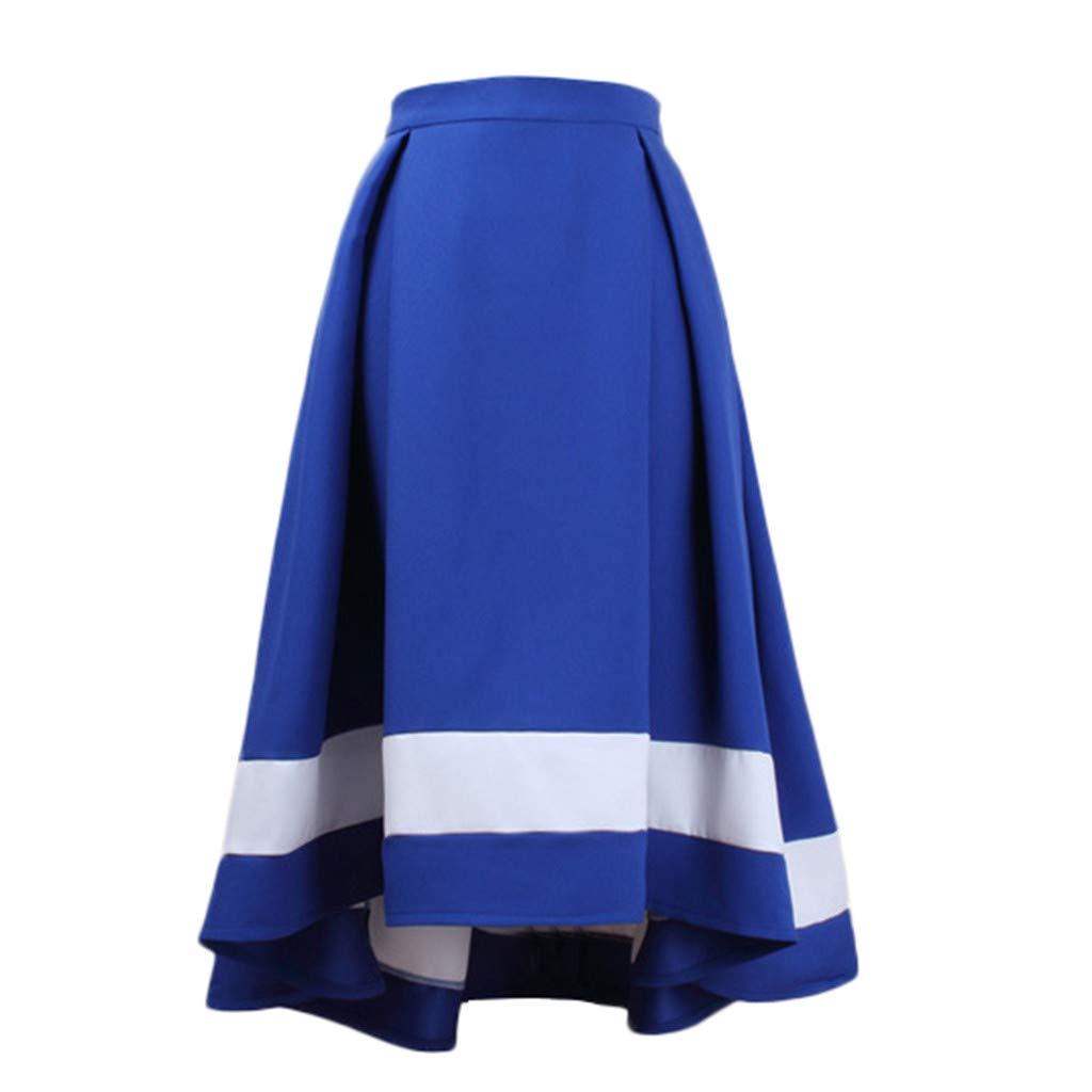 VEZAD High Waist Pleated A Line Long Skirt Women Front Slit Belted Maxi Skirt