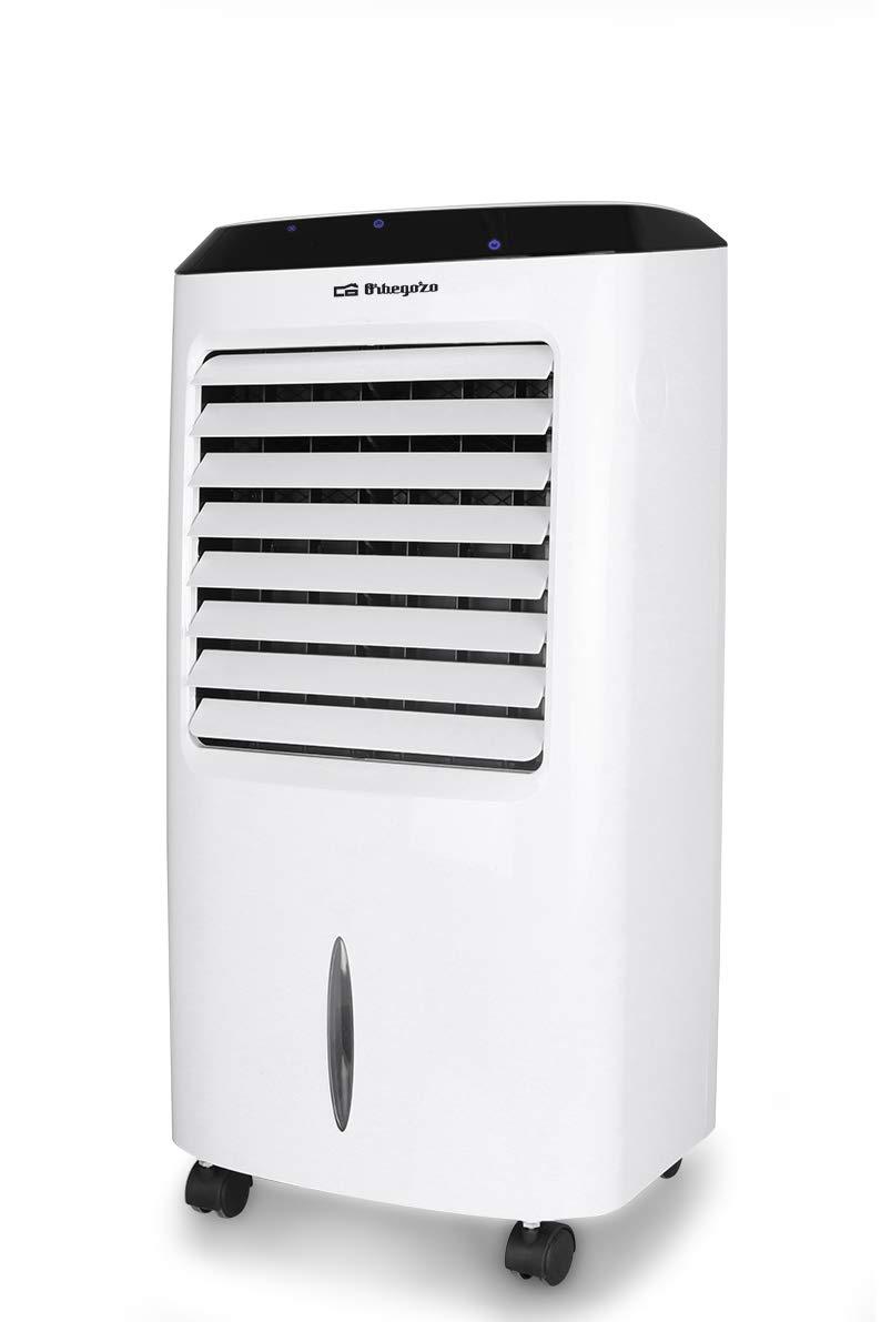 3 velocit/à Condizionatore portatile evaporativo 3 in 1: climatizzatore 65 W di potenza purificatore daria e umidificatore telecomando Orbegozo AIR 52 timer fino a 8 ore