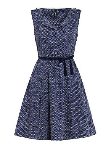 Woolrich Damen WWABI03861519 Blau Baumwolle Kleid yuEIlBaK3 - spikes ...