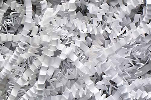Crinkle Cut Paper Shred Filler (1/2 LB) for Gift Wrapping & Basket Filling - White | MagicWater -