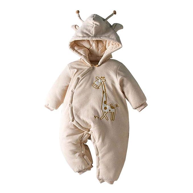 LPATTERN Traje de Nieve Bebé Invierno Peleles Mameluco con Capucha Cálido Monos para Niños Niñas: Amazon.es: Ropa y accesorios
