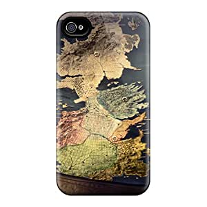 MarcClements Apple Iphone 4/4s Scratch Protection Phone Covers Allow Personal Design Colorful Game Of Thrones Map Skin [bNH27137JtPw]