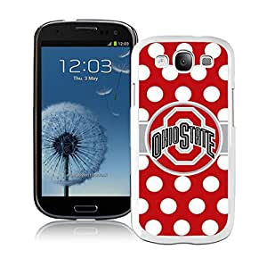 Ncaa Big Ten Conference Football Ohio State Buckeyes(4) White Samsung Galaxy S3 Cellphone Case Lovely and Grace Look