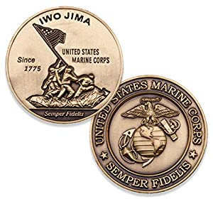 Iwo Jima Marine Corps Challenge Coin - Amazing 3D design custom USMC challenge coins - Designed for Marines by Marines from Coins For Anything Inc