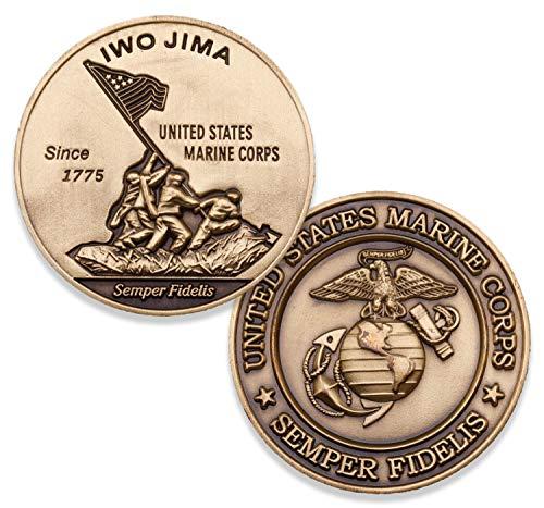 Iwo Jima Marine Corps Challenge Coin - Amazing 3D design custom USMC challenge coins - Designed for Marines by Marines