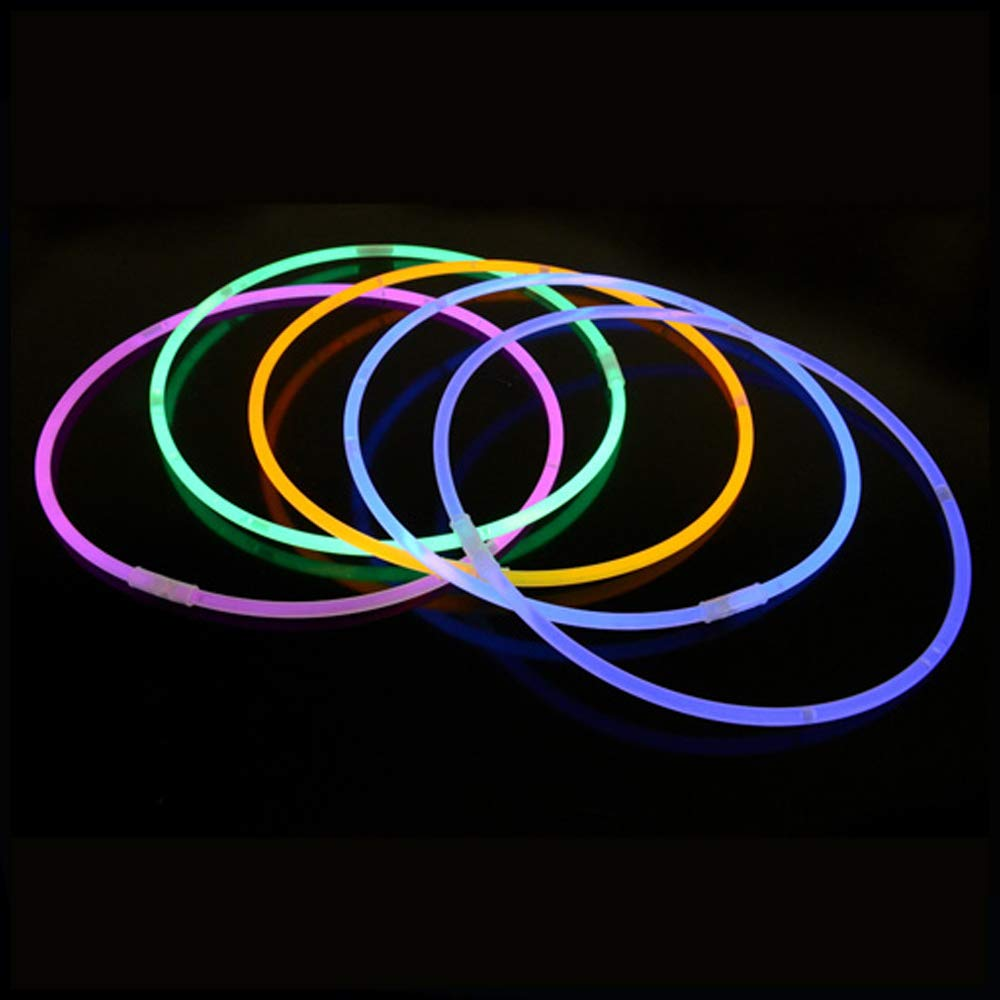 Lumistick Premium 22 Inch Glow Stick Necklaces with Connectors | Kid Safe Non-Toxic Glowstick Necklaces Party Pack | Available in Bulk and Color Varieties | Lasts 12 Hours (Color Assortment, 100) by Lumistick (Image #6)
