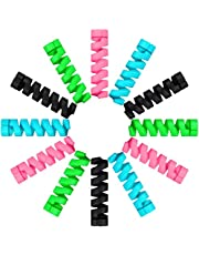 24 Pieces Charger Cable Saver, Silicone Flexible Cable Wire Protector, Mouse Cable Protector, Suit for All Cellphone Data Lines (Black, Pink, Blue, Green)