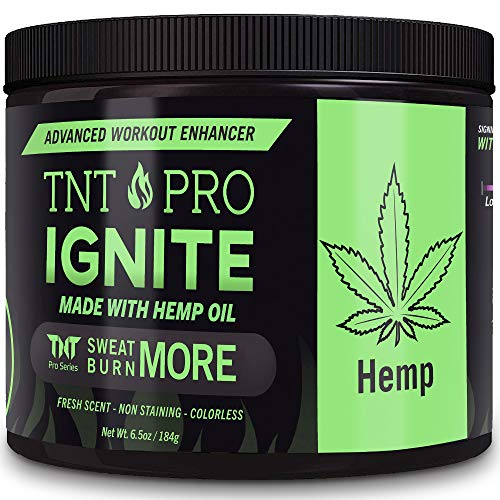 Belly Fat Burner Sweat Gel - Weight Loss Fat Burning Cream For Stomach with Hemp Pain Relief - TNT Pro Ignite Hot Cellulite Slimming Cream for Men and Women (6.5 oz Jar) (Gel Weight Loss)