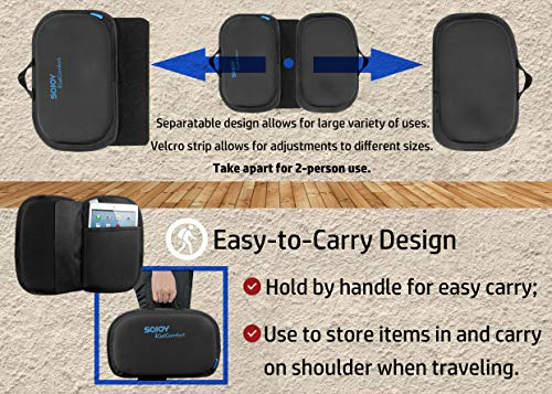 Sojoy Igelcomfort 3 In 1 Foldable Gel Seat Cushion Featured With Memory Foam A Must Have Travel Cushion Smart Easy Travel Cushion Size 18 5 X