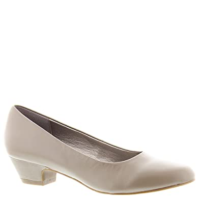 ecaf7f1f62599 Amazon.com | ARRAY Womens Lily Leather Closed Toe Classic Pumps, Taupe,  Size 12.0 | Pumps