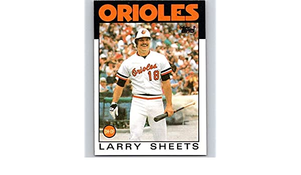 a159975d3 Amazon.com  1986 Topps  147 Larry Sheets Orioles MLB Baseball  Collectibles    Fine Art
