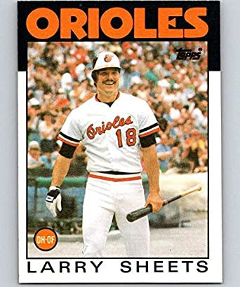 ca24f781a Amazon.com  1986 Topps  147 Larry Sheets Orioles MLB Baseball ...
