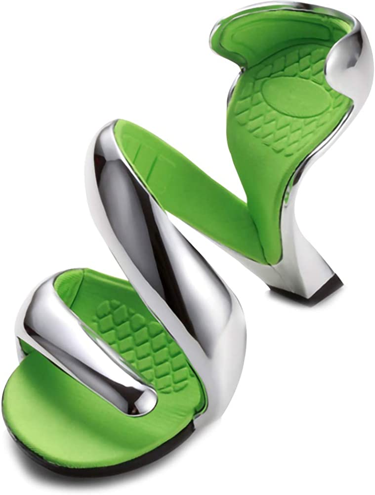 Womens Bottomless Snake Design High Heels Platform Sandal Pigskin Wedding Pumps