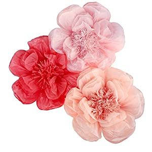 Homeford Paper Scalloped Magnolia Wall Flower, 20-Inch 48