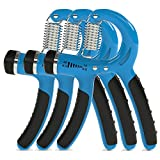 ThunderFit Adjustable Hand Grip Strengthener Blue Color 10-35Kg (3Pack)