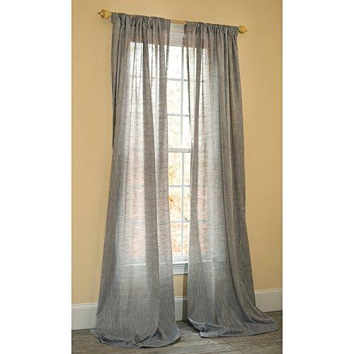 (Manor Luxe Essex Sheer Rod Pocket Window Curtain, Single Panel, 52 x 108)
