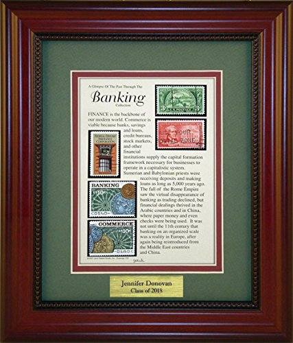 Banking - Unique Framed Collectible (A Great Gift Idea) with Personalized Engraved Plate