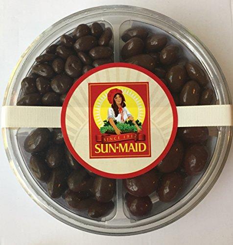 Sun Maid - SUGAR FREE Set - Chocolate Covered Almonds, Cherries AND Raisins (Milk and Dark Chocolate) - No Sugar added (1 Variety Set) (Sugar Free Chocolate Almonds)