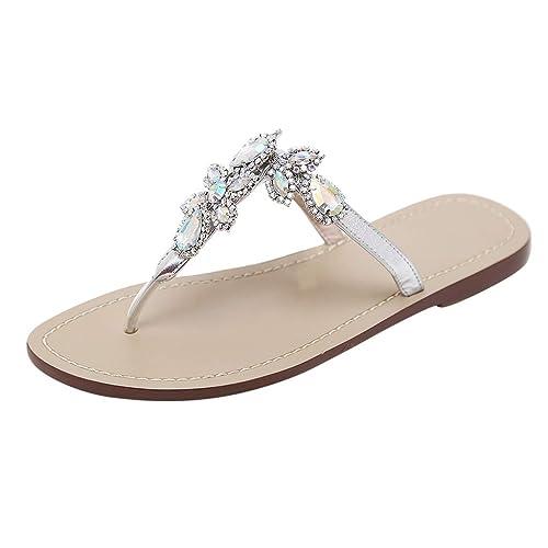 1381254a8903e6 Sunergy Womens Rhinestone Flip Flops