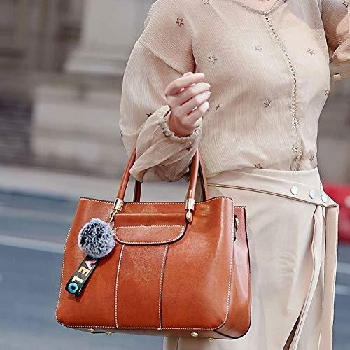 Marrone Tote Business Borsa Classic Polso Daily Da Spalla Messenger Casual Lavoro Tracolla Viaggio Shoulder Handbag Nappa Crossbody Borsetta Retro Clutch Ufficio Bag Sacchett cpnvWcBr