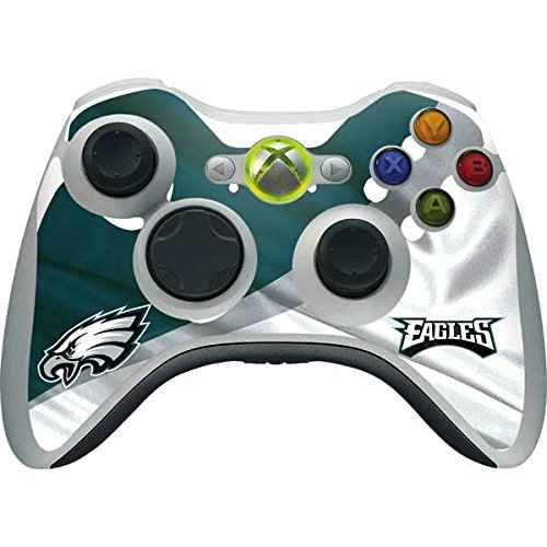 Skinit NFL Philadelphia Eagles Xbox 360 Wireless Controller Skin - Philadelphia Eagles Design - Ultra Thin, Lightweight Vinyl Decal Protection (Xbox 360 Official Nfl)
