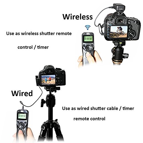 Pixel Timer Shutter Release TW283-N3 Wireless Remote Control for Canon 5D Mark III/ 5D Mark IV/ 5D 6D /7D Mark II/ 7D 50D 40D 30D D60 D30 D2000 by PIXEL (Image #1)