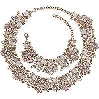 Holylove 7 Colors Crystal Vintage Statement Necklace Bracelet Earrings