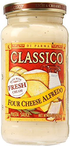 Classico Four Cheese Alfredo Pasta Sauce (15 oz Jar)