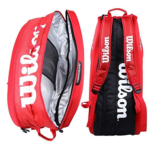 Wilson Tour Molded (9-Pack) Tennis Bag (Red) by Wilson (Image #6)