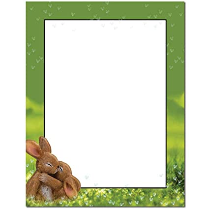photo regarding Easter Bunny Letterhead called : Hugging Bunnies Letterhead Laser Inkjet