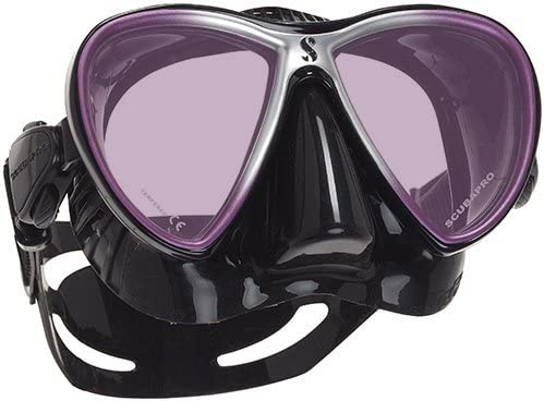 Purple // black silicone Scubapro Synergy Twin Tauchmaske