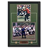 Arnold Palmer Autographed The Masters Golf Collage Red Sweater 28x20 Frame