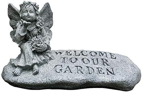 Jardín Ángel Estatua, Jardín Niña Escultura Resina Artesanía Jardín Patio Decoración Paisaje: Amazon.es: Hogar