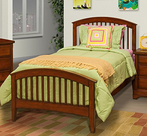 Sandpoint 5 Piece Twin Slat Bedroom Set with 2 Nightstands in Tobacco by NCF Furniture (Image #1)