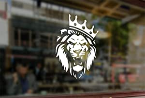 25 Centimeters Lion in The Crown Waterproof Vinyl Stickers Funny Decals Bumper Car Auto Computer Laptop Wall Window Glass Skateboard Snowboard