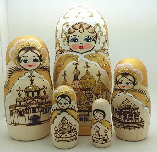 """New Hand Painted 5/"""" Russian Nesting Doll Matryoshka 10 Piece Set Made In Russia"""