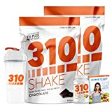 Chocolate Meal Replacement | 310 Shake Protein Powder is Gluten and Dairy free, Soy Protein and Sugar Free | Includes 310 Thin, Clear Shaker and Free Recipe eBook | (2) 28 Serving Bags