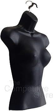 Details about  /2 x Black Male Dress Form Mannequin Hard Plastic W// Hook for Hanging 158B