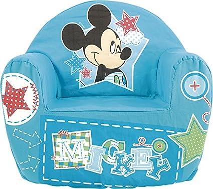 Lulabi Disney Mickey Sillón blando, para niño, azul
