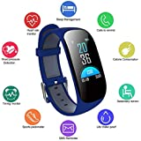 Bluetooth Smart watch,Fitness Tracker Watch with Heart Rate Monitorand Blood Pressure,Waterproof smartwatch with Pedometer, GPS, Sleep monitor for Kids Women Men,Health Sport Watch for Android and iOS
