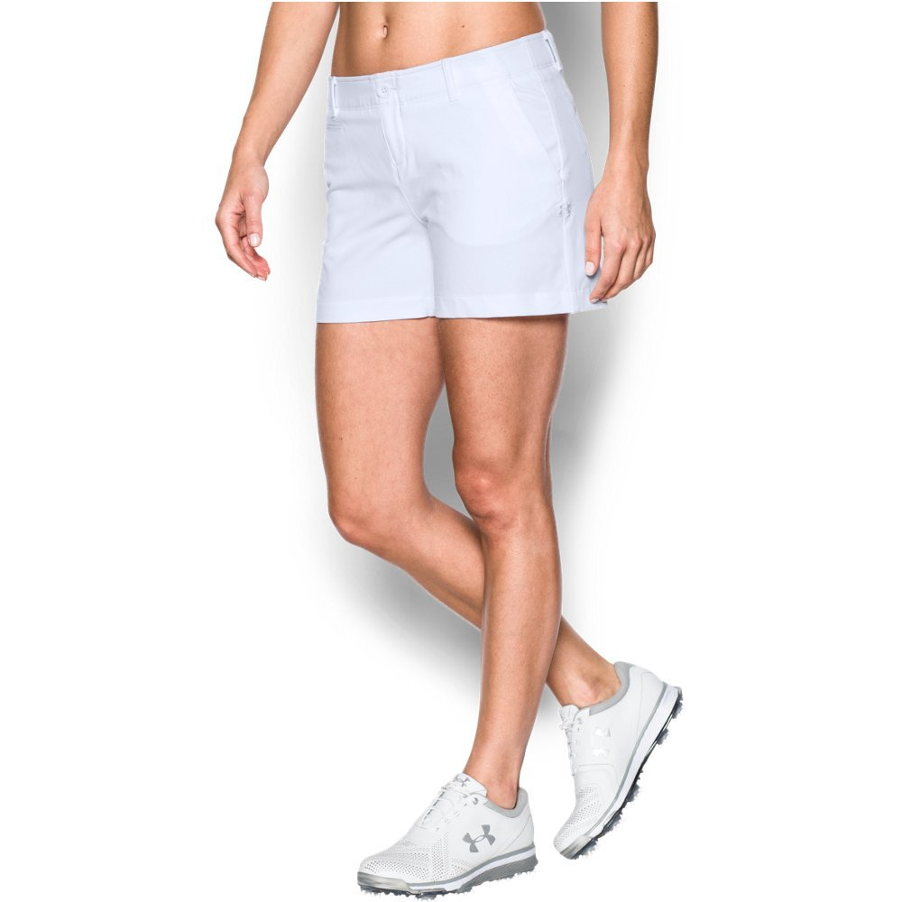 Under Armour Women's Links 4'' Shorty, White (100)/White, 14 by Under Armour