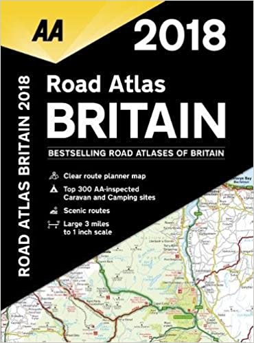 2018 road atlas britain aa publishing 9780749578619 amazoncom books