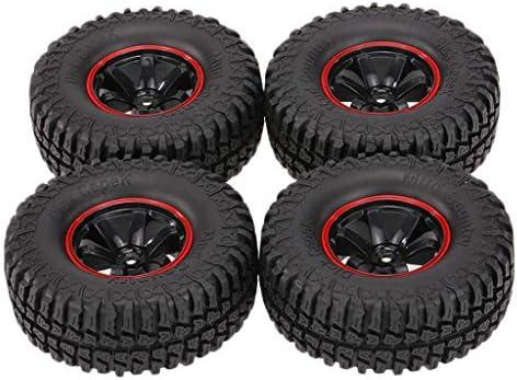 Baoblaze 4本 ラジコンカー ゴム タイヤ 1/10ホイール リム 1.9インチ 交換 アクセサリー ブラック