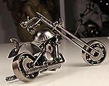 MYTANGCreative Office Desktop Accessories Harley Davidson Metal Motorcycle Model Artwork motorcycle enthusiast (m39-balck)