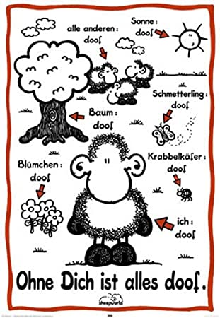 Sheepworld Poster Ohne Dich ist Alles Doof + Ü Poster