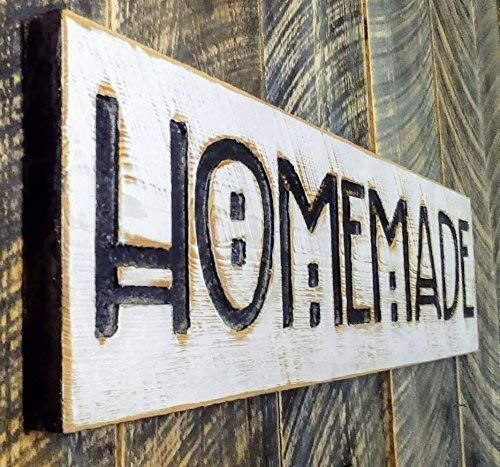 Homemade Sign 40 x 10 Horizontal - Carved in a Wood Board Arts Crafts Room