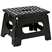 Folding Step Stool - 11  Wide - The Lightweight Step Stool is Sturdy Enough to Support Adults and Safe Enough for Kids. Opens Easy with One Flip. Great for Kitchen, Bathroom, Bedroom, Kids or Adults.