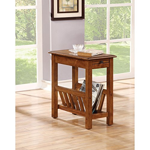 Contemporary Living Room Magazine Rack - Acme Furniture 80517 Jayme Side Table, Tobacco