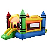 Costzon Inflatable Crayon Bounce House Castle Jumper Moonwalk Bouncer Without Blower by Costzon